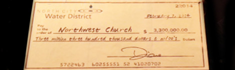 Northwest_Church_Check_North_City_Water_District_Land_Sale