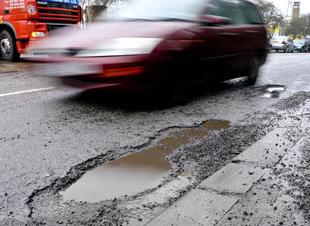 Car Pothole