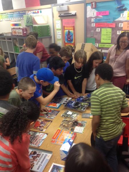 Brookside Elementary Fix a Leak Week school supplies