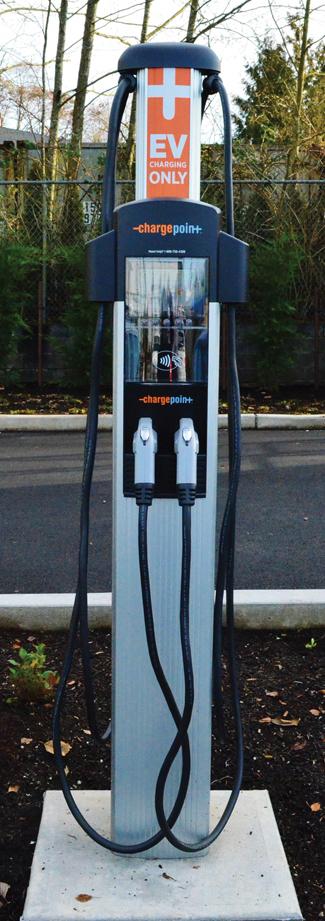 Electric car charge station shorline lake forest park