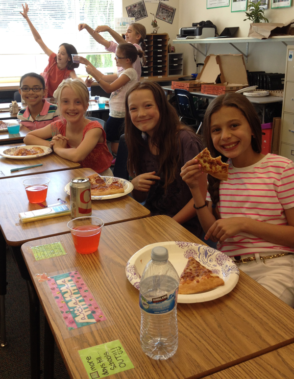 Kings Elementary School Fix a Leak Week Pizza Party