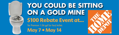 Seattle $100 Toilet Rebate Home Depot featured