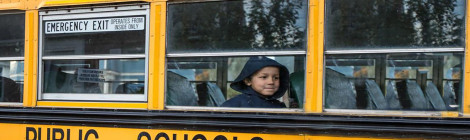 Kid school bus long