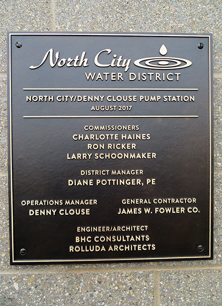 Pump Station plaque