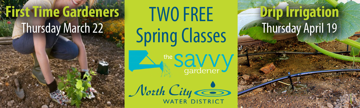 Two FREE Savvy Gardener Classes This Spring