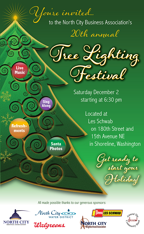 Shoreline Holiday Christmas Tree Lighting 2017