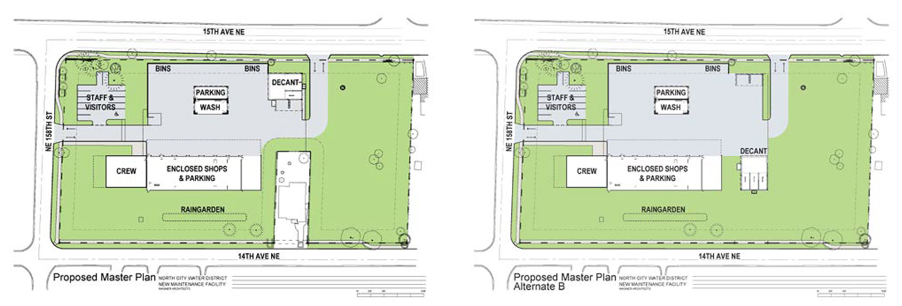 Site Plan for New Maintenance Facility